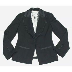 White House Black Market Blazer Career Work wool 2